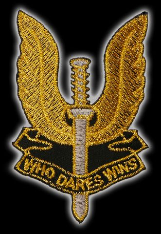 Special Air Service Logo http://www.ebay.co.uk/itm/SPECIAL-AIR-SERVICE-SAS-WHO-DARES-WINS-Logo-Patch-/200601947378