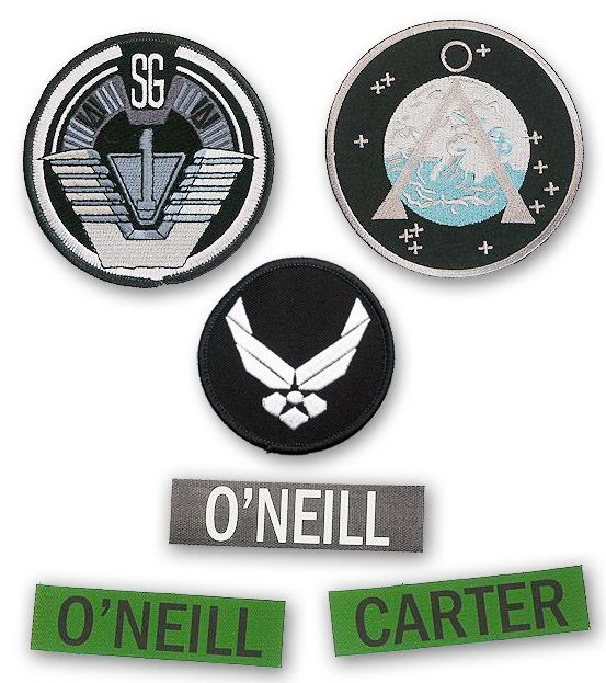 STARGATE-SG-1-Team-Patch-Set-SG-1-Earth-Chevron-USAF-Wings-Name-Tape
